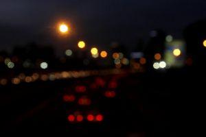 roads traffic vehicles cars night blurred