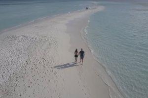 sand vacation couple ocean sea sunny hot beach water summer