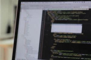 screen work hacker hacking codes typing programming blur data monitor