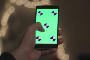 scroll swipe green screen mockup gesture hand technology chroma key mobile smartphone