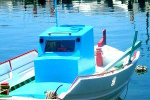 sea boat aegean sea greek blue limnos fishing