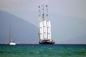 sea luxury yacht maltese falcon vasiliki greece bay