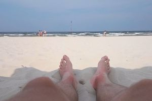 sea water toes ocean feet shore beach sand. waves