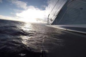 sea waves water ocean sailing beach cruise boat daylight sky