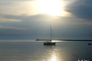 serenity sailing sea limnos