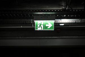 sign light dark arrow