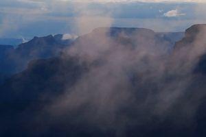 silh foggy mountain fog