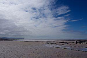 sky clouds beach big sky blue sky