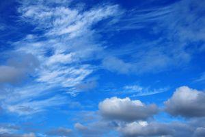 sky clouds fluffy clouds blue sky