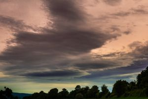 sky clouds nature dark clouds time-lapse trees