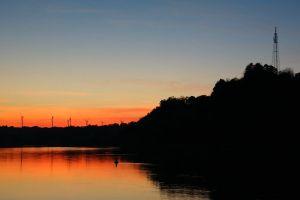 sky dawn water dark