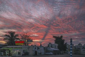 sky evening sky israel sunset