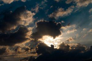 sky heaven sun blue