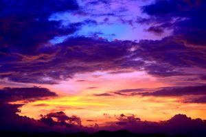 sky weather dramatic light sunset clouds idyllic color evening bright