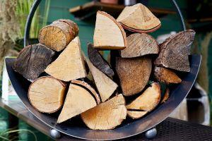 stock logs rustic bark stacked hardwood chop lumber raw energy