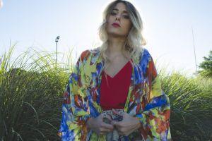 style garden park model kimono fashion body outdoor beauty girl