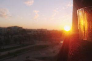 sunset beautiful beach