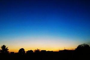 sunset blue sky gradient sky