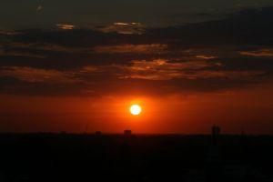 sunset city sunset evening sun
