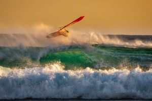 surf windsurfing sunset activity waves breaking seashore landscape beach skills surfboarding