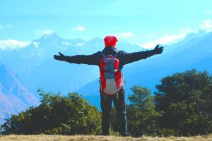 top view himachal outdoorchallenge red wild hiker camping mountain blue mountains outdoor