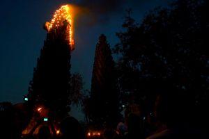 torches fire burning pillar light