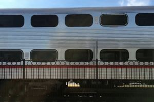 train transportation system railway caltrain slow fence
