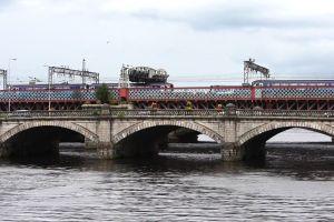 train water vehicles cars bridge architecture
