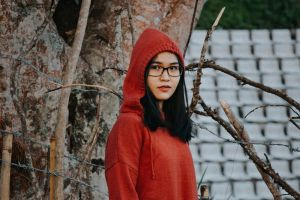 tree wear cute beautiful girl beauty female woman fashion person