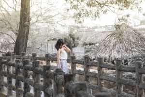 trees daylight sky environment pose person nature scenic girl park
