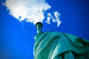 usa color new york city horizontal new york statue of liberty freedom