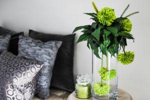 vase throw pillows glass jar furnitures flora interior bouquet contemporary decor interior design