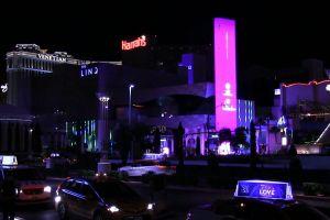 vehicles illuminated cars lights bar traffic road night life clubs night