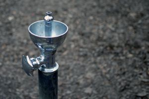 water blur water fountain tap