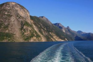 water ocean nature mountains scenic sea