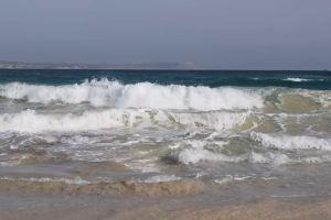 water shore sea waves horizon ocean rocks nature