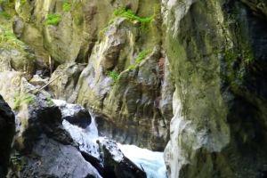 water stones waterfall cave rocks
