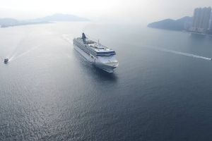 watercraft aerial shot water ocean sea cruise ship cruise ship
