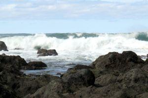 waves daylight sea rocks water weather ocean