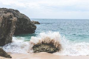 waves daylight water seashore ocean sand splash sea shore beach