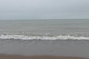 waves sea foam water horizon seashore sea shore sand