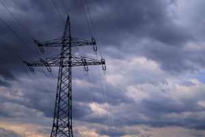wire electric low angle shot energy electric pole clouds time-lapse sky