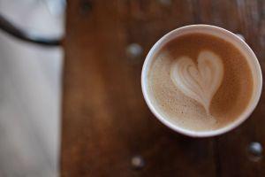 wood coffee cup foam caffeine mug blur coffee mug latte art cup of coffee close-up
