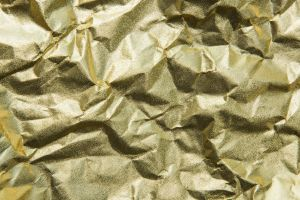yellow golden surface decorate textured isolated lifestyle design space foil material