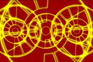 yellow red animated. animation pattern technology