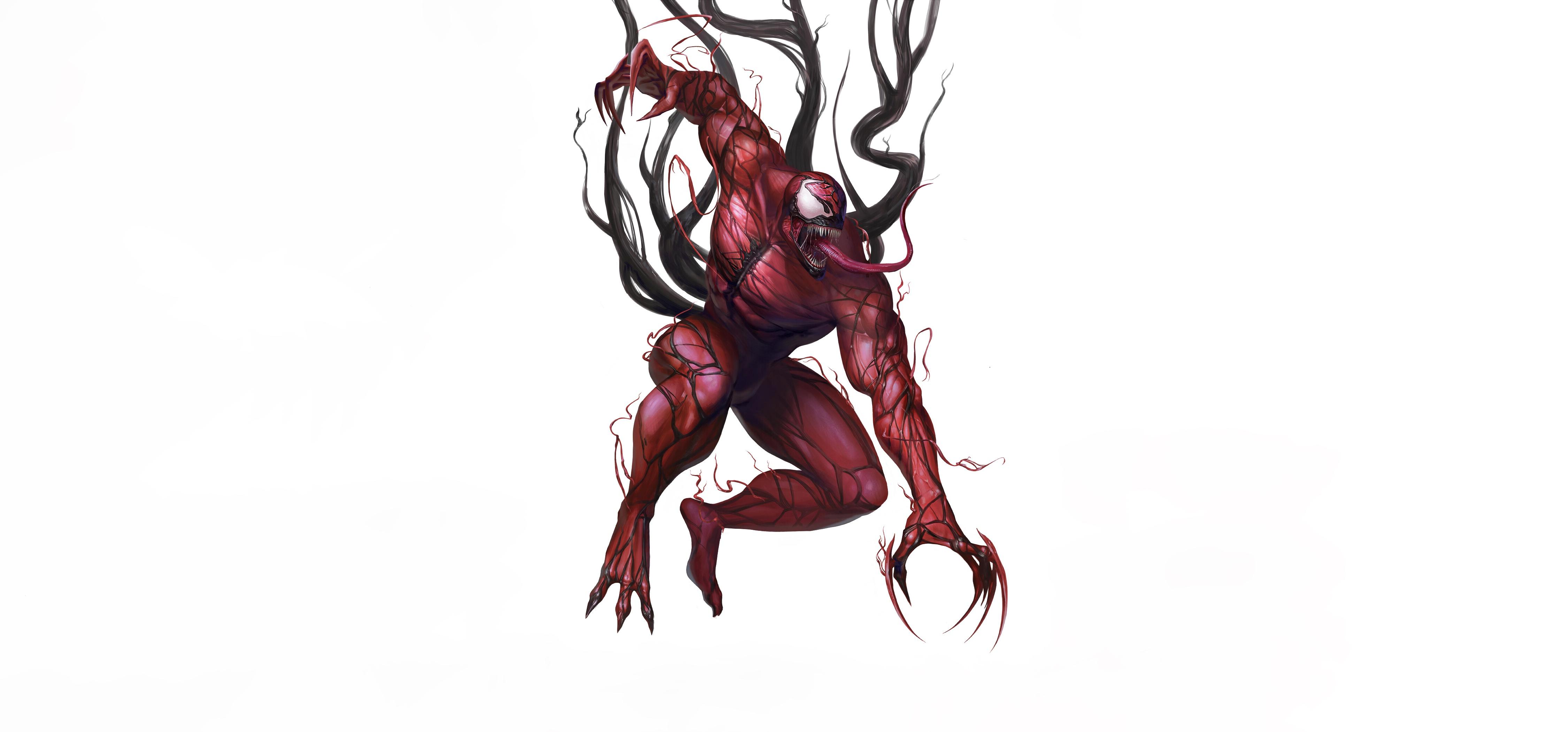 artwork carnage creature simple background venom