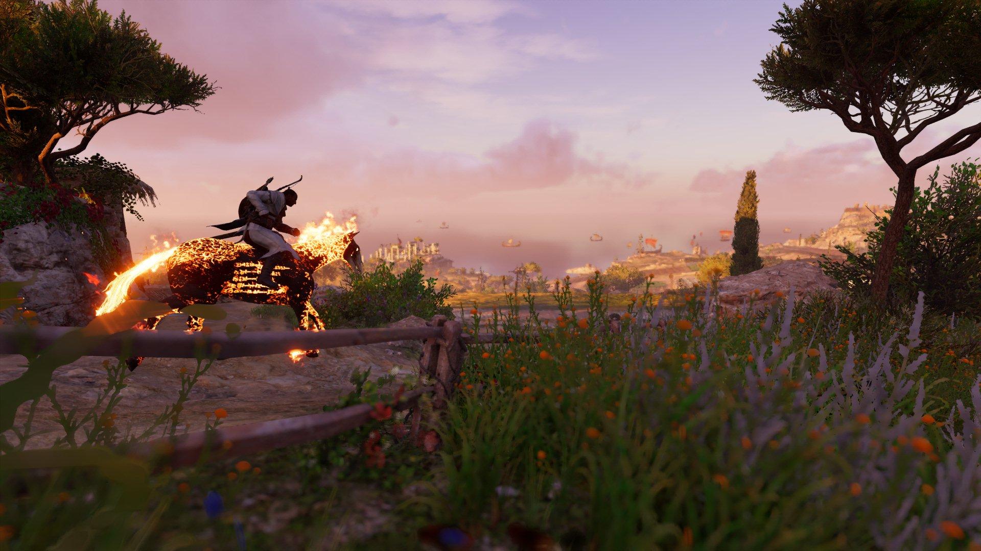 assassin's creed bayek assassin's creed: origins landscape