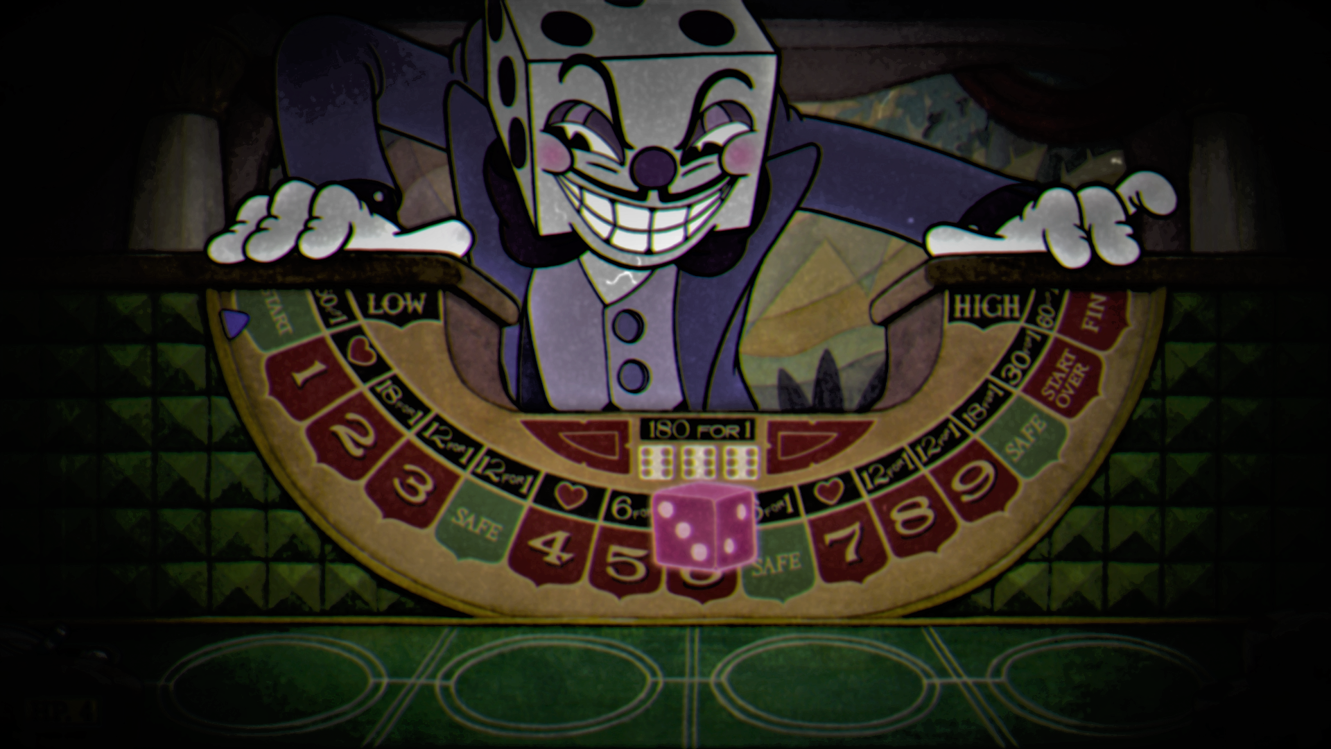 games art casino dice video games spooky dark cuphead (video game) king dice