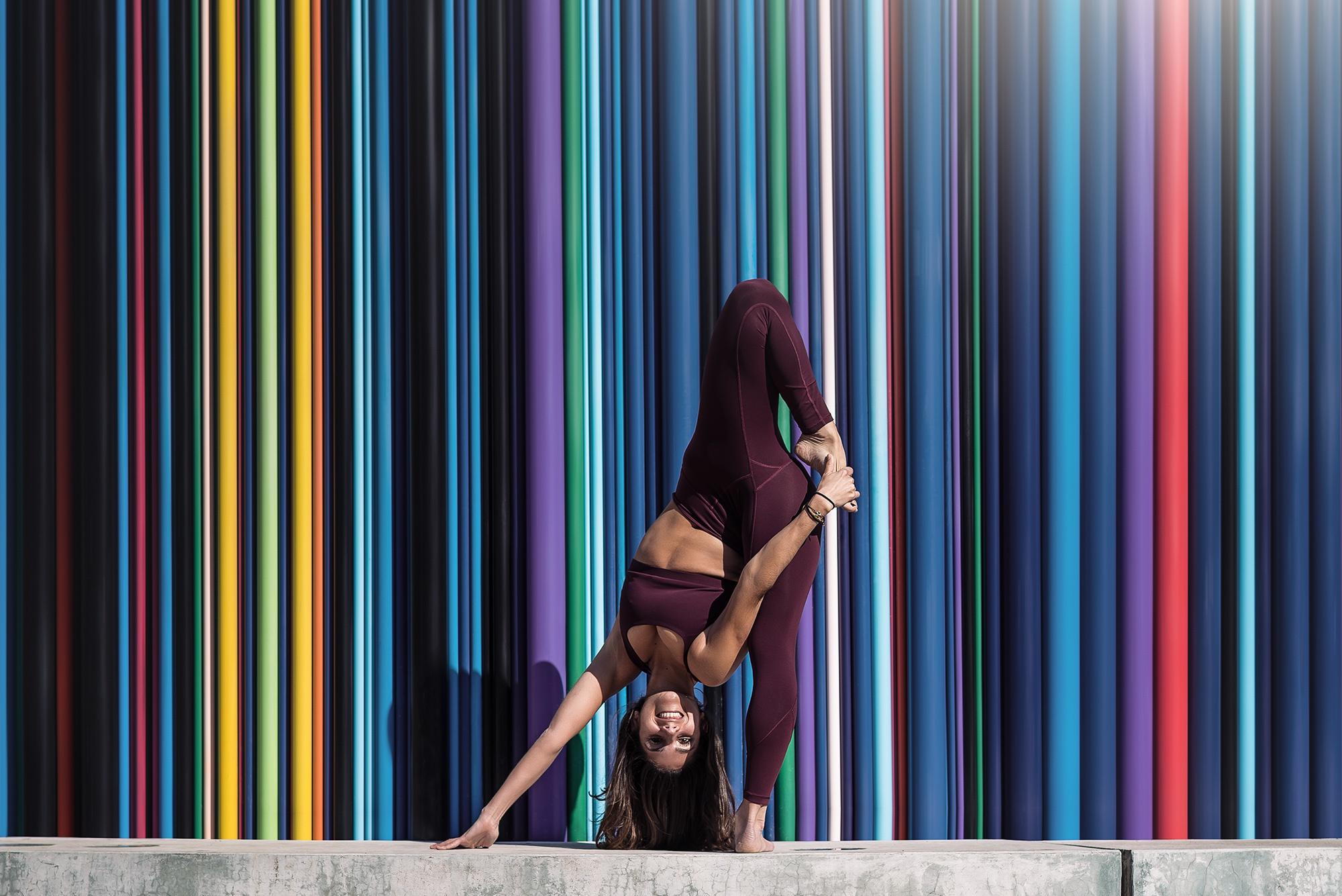 headstand sports bra yoga pants women sport  colorful flexible