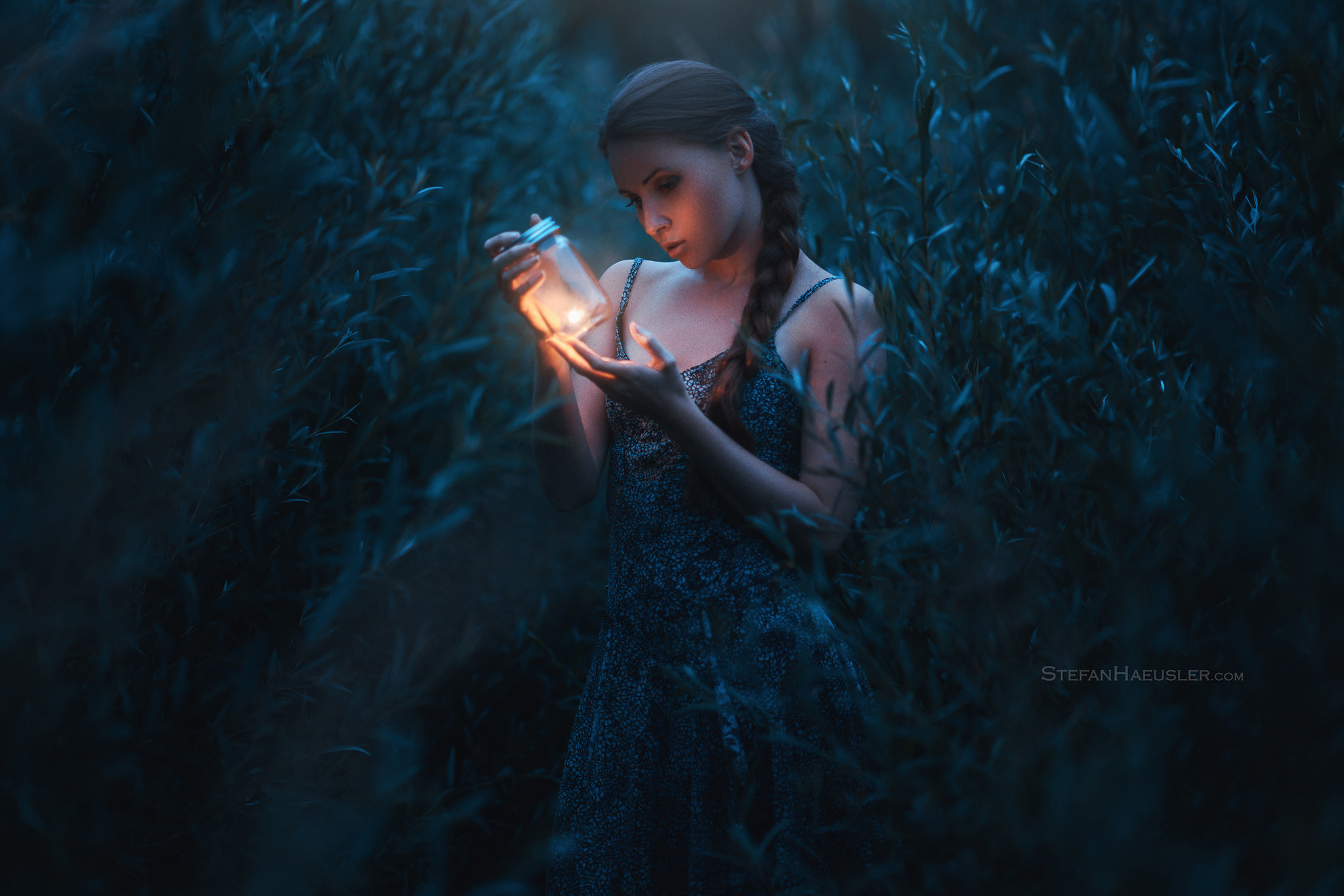 plants lantern lights dark long hair dress women viktoria stephanie model stefan häusler women outdoors glass